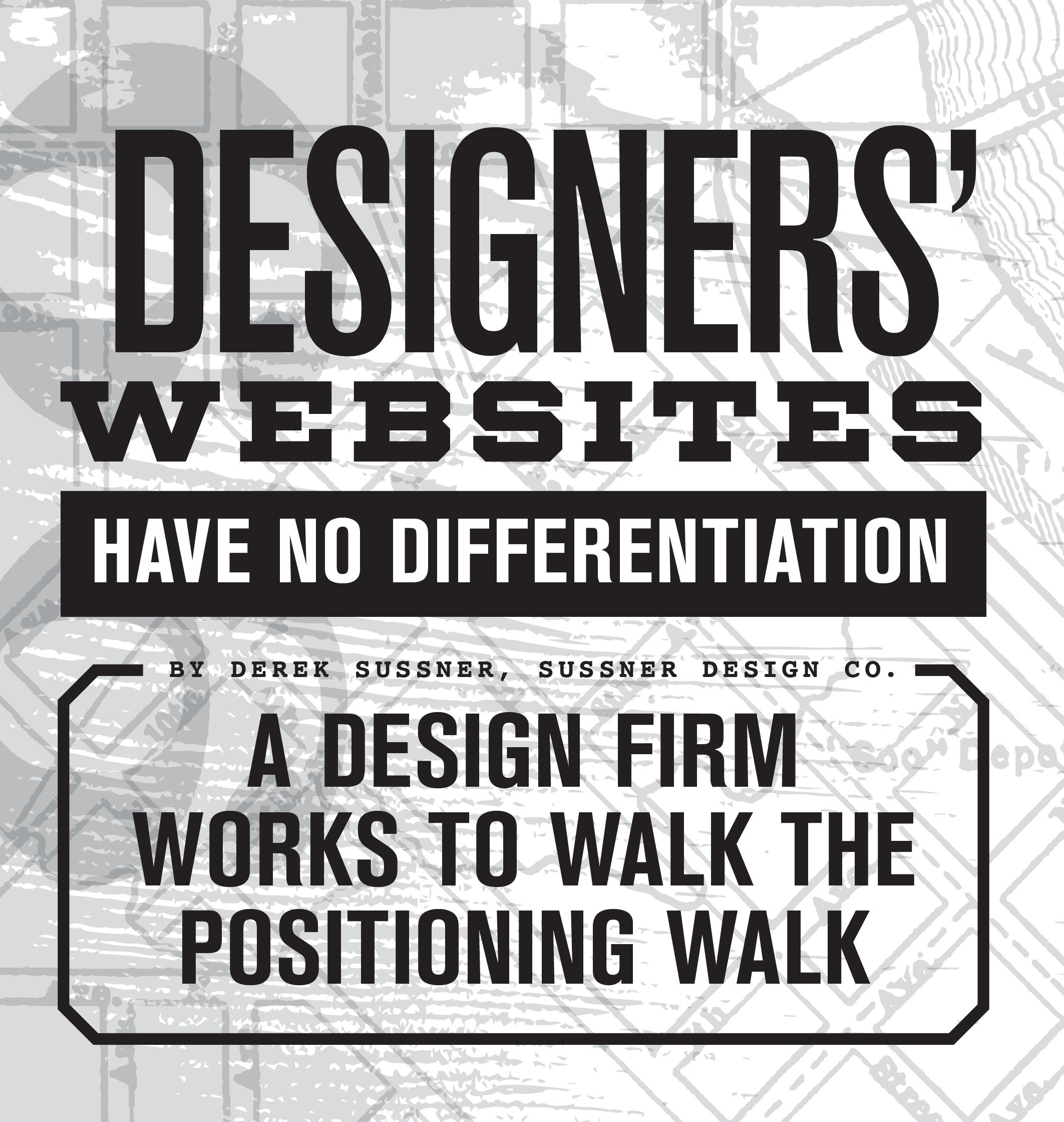 Designers' Websites Have No Differentiation
